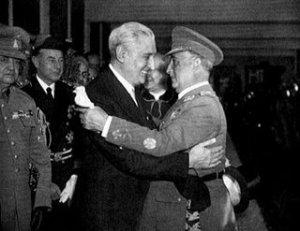 Franco e Salazar em 1965 (foto de Arbonaida)